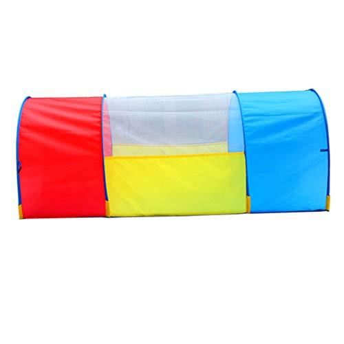 FLAMEER Pop Up Tunnel Kriechtunnel Krabbeltunnel Indoor & Outdoor Spielzeug Für Kleinkind Krabbeln Spaß - 130cm