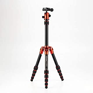 "MeFOTO BackPacker Classic Lightweight 51.2"" Aluminum Travel Tripod Kit w/Case, Twist Locks, Double Action Ballhead w/Arca Swiss Plate for Mirrorless/DSLR Sony Nikon Canon Fuji - Red (A0350Q0R) (B0083Z41QI) 