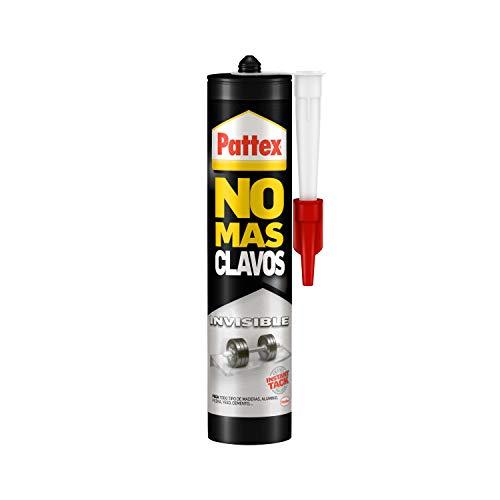 Pattex No Más Clavos Invisible, pegamento resistente transparente, pegamento extrafuerte para madera, metal y más, adhesivo de montaje instantáneo, 1 cartucho x 310 g (1792948)