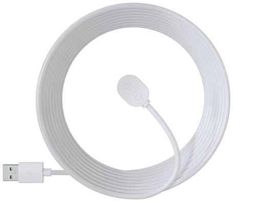 Arlo zertifiertes Zubehör | Magnetisches Ladekabel (geeignet für den Außenbereich, nur mit kabelloser Arlo Ultra, Pro3 und Floodlight Überwachungskamera kompatibel, 7,62m) VMA5600C