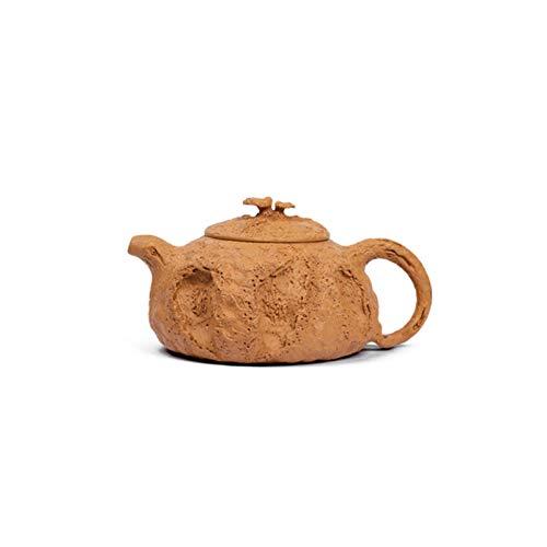 TongN Tarro de cerámica Tetera Hecha a Mano, Tetera de Arena púrpura y Tetera de Primavera de lingzhi 180cc