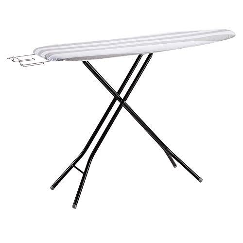 Amazon Basics Full-Size Ironing Board - 4-Leg Fold-Up, Striped Removable Cover