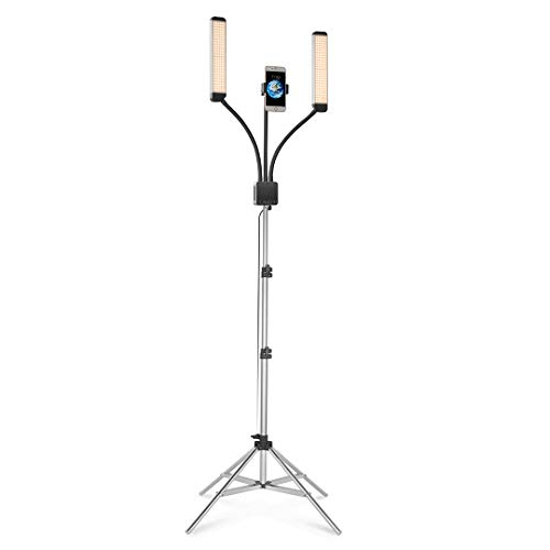 GLAMCOR Multimedia X Portable LED Lighting Kit with Selfie Function, USB Charging Port, & Color Temperature Adjustability