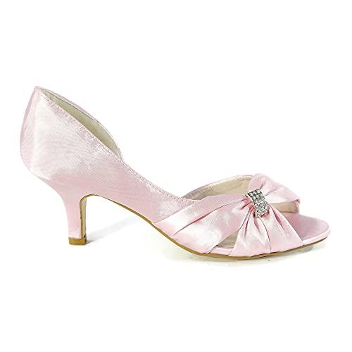 Zapatos de tacón bajo para mujer, de boda, de novia, de noche,...
