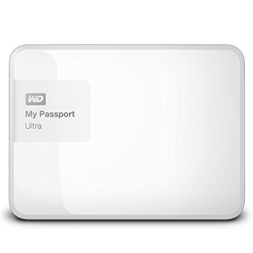 『WD HDD ポータブルハードディスク 2TB My Passport Ultra WDBBKD0020BWT-PESN USB3.0/ホワイト/暗号化パスワード保護/3年保証』のトップ画像