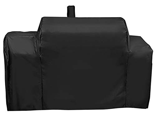 ProHome Direct Heavy Duty BBQ Grill Cover Fits for Oklahoma Joe's Longhorn Gas/Charcoal/Smoker Combo Grill, UV and Water Resistant Fabric, All Weather Protection Grill Cover, Black