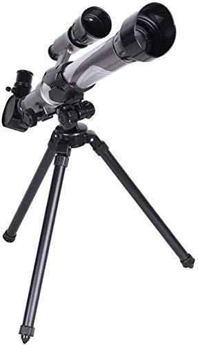 Qianqiusui Telescopios, 20-40X telescopio monocular monocular, los niños Principiantes de observación de Aves for niños (Color : Black, Size : 28x50/26cm/11.02)