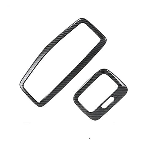 para M&i-tsubishi para ASX 2020 2 Uds Fibra De Carbono ABS Cubierta De Luz De Lectura para Lámpara De Techo Frontal Y Trasera De Coche Molduras Interiores