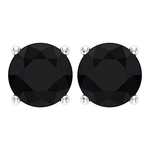 Rosec Jewels 10 quilates oro blanco black Diamond Round H-I Diamond