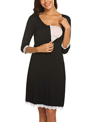 MAXMODA Umstandsnachthemd Stillnachthemd Nachthemd Damen Umstandsmode