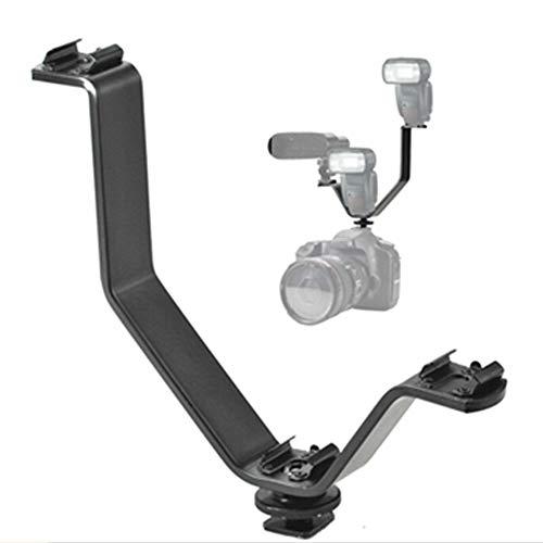 XUSUYUNCHUANG Forma V de DSLR Cámara Flash Soporte de Zapata Adaptador de micrófono Ligero trípode Titular de Montaje de Metal Estudio Accesorios