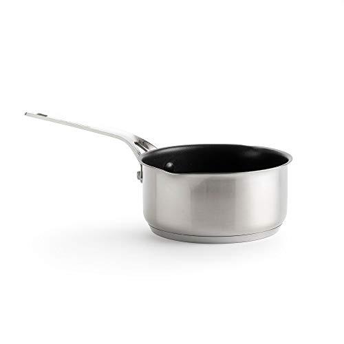 KitchenAid Edelstahl Topf, Induktionstopf mit Ausguss, Antihaft Kochtopf mit Edelstahlgriff, Backofen- und Spülmaschinengeeignet - 16 cm/1.5 L