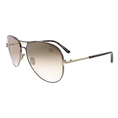 Tom Ford CLARK FT 0823 Shiny Dark Brown/Light Brown 59/14/140 unisex Sunglasses