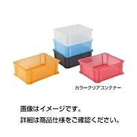 (まとめ)カラークリアコンテナ 910OR オレンジクリア【×5セット】