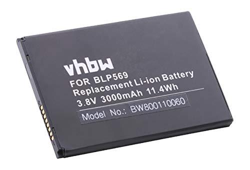 vhbw Li-Polymer Akku 3000mAh (3.8V) für Handy Smartphone Telefon Oppo Find 7, 7 Lite, 7a wie BLP569.