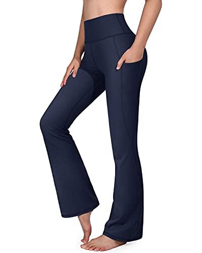 G4Free Pantaloni da Yoga da Donna a Gamba Larga con Tasche Pants a Zampa Elastico Eleganti Pantaloni da Donna Bootcut per Pilates Danza Fitness Palestra Allenamento