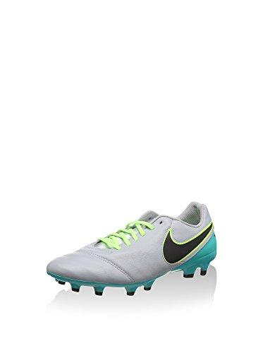 Nike Tiempo Genio II Leather FG, Botas de fútbol Hombre, Gris (Gris (Wolf Grey/Black-Clear Jade), 43