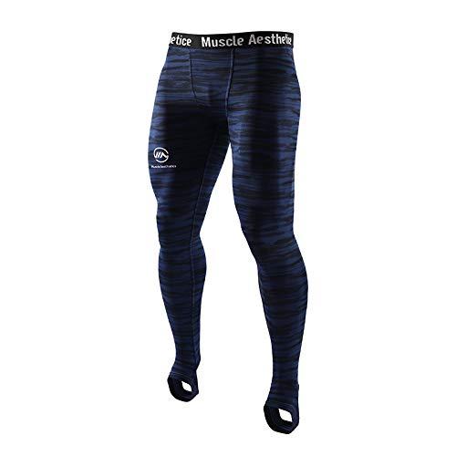 Pantalones Deportivos Ajustados para Hombre, Estampado de Camuflaje, Pantalones de Entrenamiento Transpirables de Secado rápido, Pantalones Deportivos, Mallas de Baloncesto elásticas Altas XX-Large