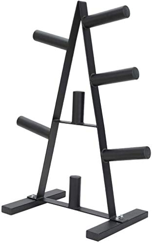 Dumbbell Rack, Olympic Weight Plate Rack Weight Plate Rack, Home Weightlifting Bench, Weight Plate Tree Storage Rack 2 inch for Dumbbell Bumper Plates Free Weight Stand (37 x 20 x 15 inches, Black)
