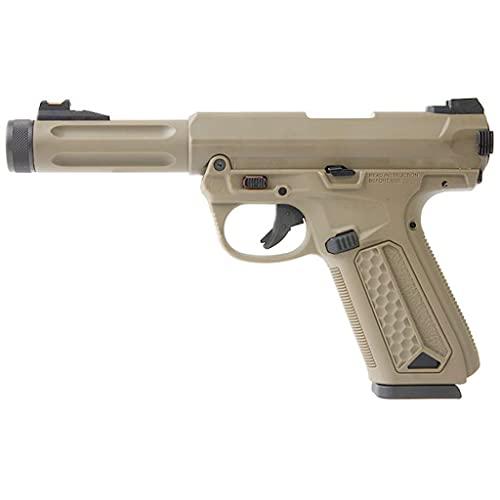 Action Army Airsoft - AAP-01 Assassin Desierto Gas Pistol -Semiautomático/Full Auto. Culata de Metal blowback- Potencia 0.5 Joule