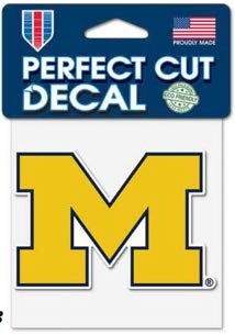 Wincraft NCAA University of Michigan Wolverines Perfect Cut Color Decal, 4' x 4'