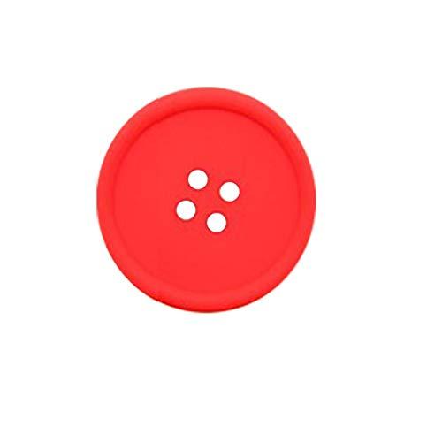 Portavasos 5 colores Home Office Silicone Coaster Coffee Coffeat Mester Mats Pad Aislamiento de Calor Copa Almohadillas Placemat Accesorios de cocina (Color : 02, Shape Style : Redondo)