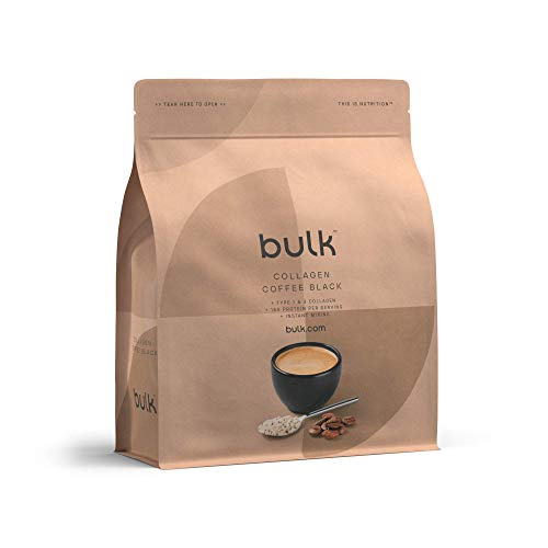 Bulk Collagen Coffee, High Protein, Black, 500 g, Packaging May Vary