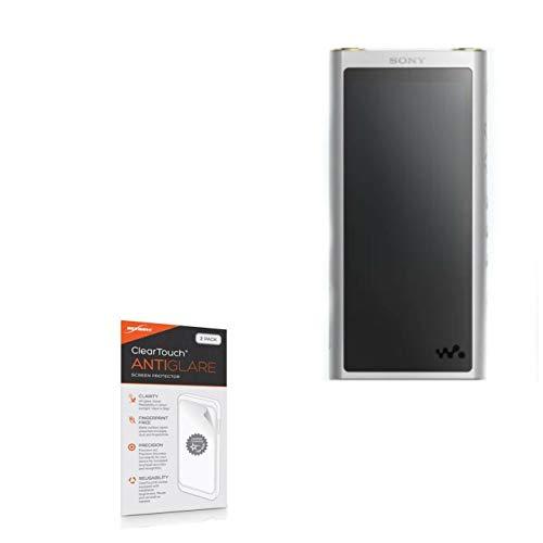 Sony NW-ZX300 Walkman Screen Protector, BoxWave [ClearTouch Anti-Glare (2-Pack)] Anti-Fingerprint Matte Film Skin for Sony NW-ZX300 Walkman