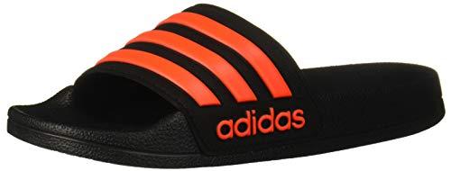 adidas Girl's Adilette Shower Sandal, Solar Red/Black, 3 Medium US Little Kid