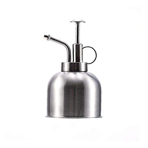 DANYIN Polierter Festwasser Mister 300ml Vintage-Stil Premium Classic Indoor Sprayer Flasche Dekorative Metallpflanze Mister mit Top-Pumpe Gießkürbis für Luftanlagen (Color : Silver)