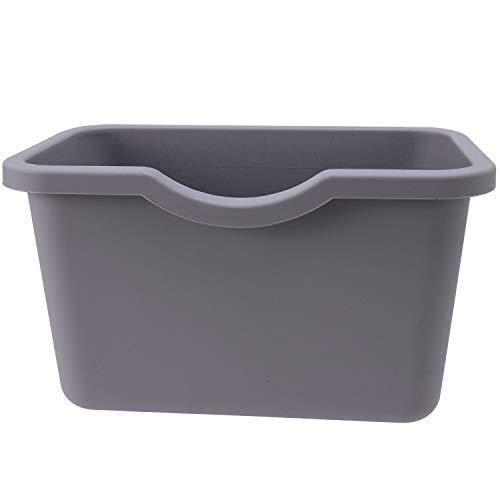 Gaetooely Küche HHngen Mülleimer Tür Bad Ohne Deckel Haushalt Kunststoff Aufbewahrungs Eimer Grau Kunststoff