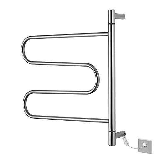 Marcas genéricas Práctico toallero para radiador Rejilla para secadora de bajo consumo eléctrico Toallero con calefacción para baño montado en la pared, acero inoxidable con protección contra fugas