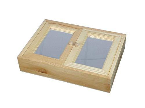 Armario llaves. Con espejo en puertas y estructura en pino macizo en crudo, se puede pintar. Medidas: 35 * 7 * 25 cms.