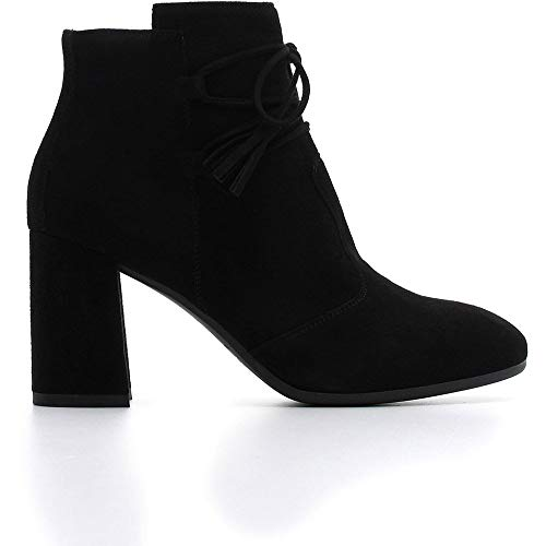 Nero Giardini - Botas de mujer de ante negro con cordones