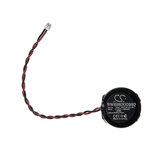 vhbw Batería no recargable compatible con ABB TA251 Controlador Lógico Programable, PLC (600 mAh, 3 V,)