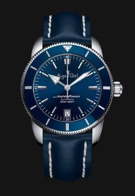 GFDSA Automatische horloges Luxe merk Heren Zilver Zwart Blauw Automatisch Mechanisch Roestvrij staal Saffierglas Horloge Rubberen band Keramische ring
