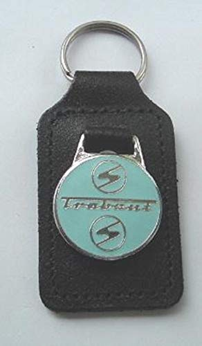 Unbekannt Schlüsselanhänger Emaille Leder Trabant