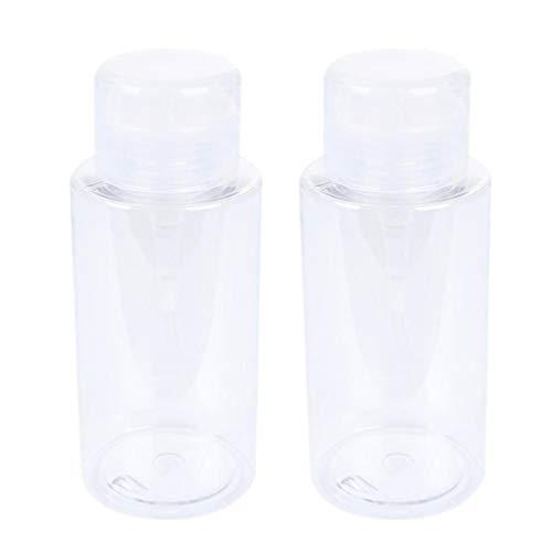 Uonlytech Bouteille d'eau de Résurrection Bouteilles Rechargeables Conteneur de Stockage Transparent Vaporisateur Vide pour Le Maquillage (2Pcs 300Ml Transparent)