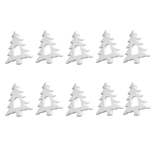 Forma DIY 10pcs Schiuma Albero di Natale Albero di Natale Schiuma Hanging accessori for la decorazione di Natale Finestra parete Decorazioni di festa di natale di favori di partito 15,5 centimetri Jzx
