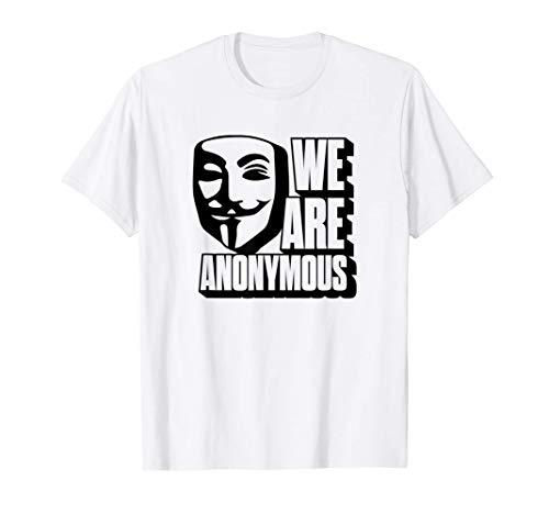 We Are Anonymous Internet Hacker Mask Gift Camiseta