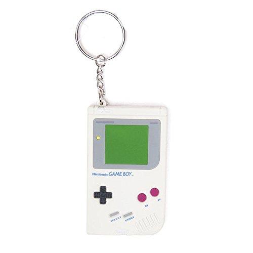 Nintendo - Llavero con diseño de Gameboy, color blanco (Bioworld BIO-KE201501GBA)