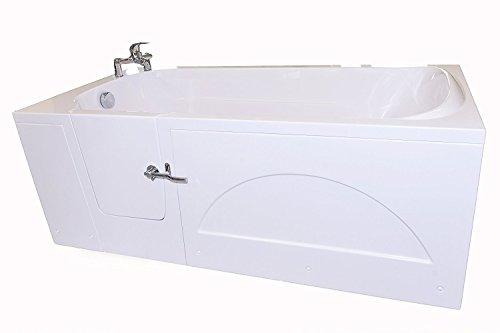 Badewanne mit Tür Seniorenbadewanne IMPRESION walk-in badewanne 170x76 cm Links Sitzbadewanne Sitzwanne Badewanne mit Tür mit Armatur