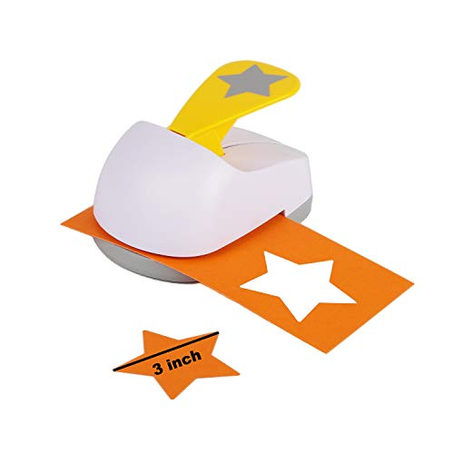 Craft Lever Punch 3 inch Star Punch DIY Handmade Paper Punch (White 3inch Star)
