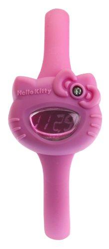 Hello Kitty Collection HK7123L/19 - Reloj de Mujer de Cuarzo, Correa de Silicona Color Rosa