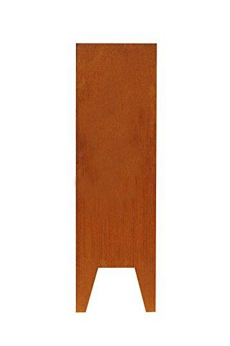 Cortenstahl Stele Seraphin, ohne Motiv