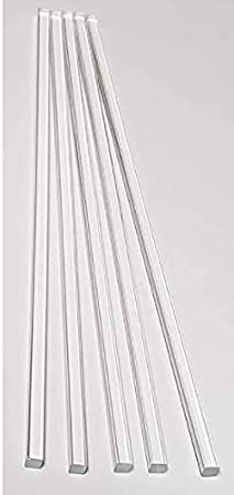 30pcs acrylic Rods 10 and 12 Transparent Clear 6 Standard Tolerance with size of 4 Round 2mm 4 x 1//16 8 Weststone