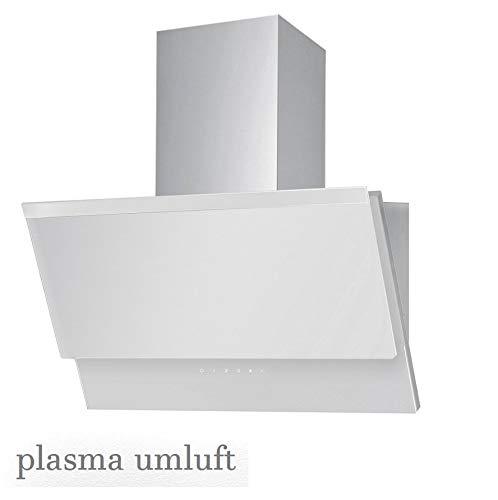VLANO ERIS 600 PLASMA WH/Kopffeie Dunstabzugshaube 60 mit Plasma-filter 60 cm weiß Glas PLASMA-Luft Reinigung Technologie Touch Control/ECO LED / 50 dB/Extra leiser Motor / 500 m³/h