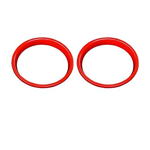 Piezas de automóviles para Mini para Cooper S JCW F55 F56 F57 Car Styling 2 Piezas del Coche del Altavoz Modificación Etiqueta De La Decoración Interior Accesorios Cubierta Decoración (Color : Rojo)