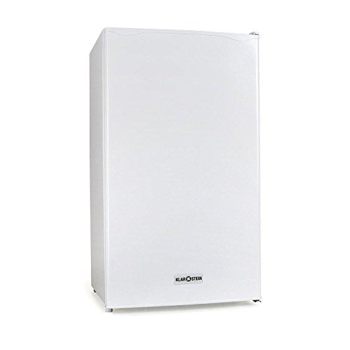 Klarstein 90L1-WH - koelkast, vriezer, 90 L, 2 x plankinzet, lade, apart ijsvak, 3 depots in de deur, stil, deurscharnier rechts, wit