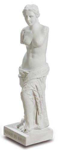 VIANAYA - Reproducción de la Obra La Venus de Milo d'Alexandros Antioca, tamaño pequeño, 10 cm, Resina Blanca, Cuidado Muy pequeño